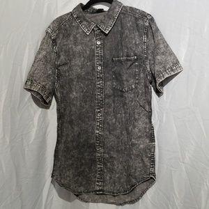 21 Men black short sleeve shirt